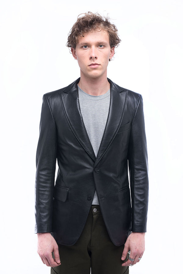 LAMB LEATHER BLAZER
