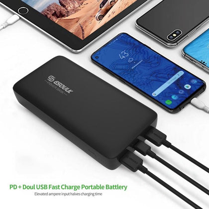 Esoulk Power Bank 54W 22000mAh PD & Dual Fast Charge USB Black EP04P-BK - Best Cell Phone Parts Distributor in Canada