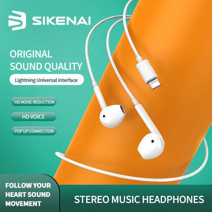 SIKENAI Ear Pods with Lightning Connector