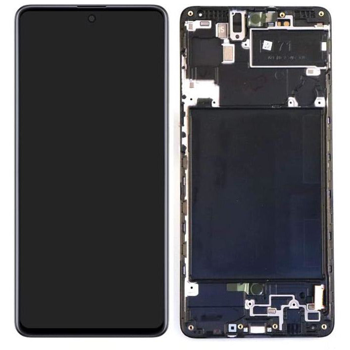 Replacement LCD & Digitizer Samsung A71 with Black Frame