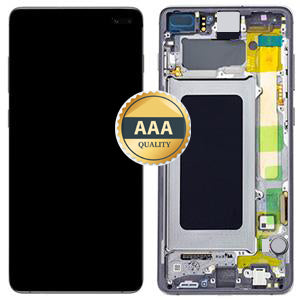 Replacement LCD & Digitizer for Samsung S10 Plus with Frame Prism Black (AAA) - Best Cell Phone Parts Distributor in Canada