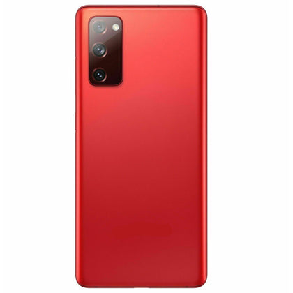 Samsung S20 Fe Compatible Back Cover with Camera Lens - Red