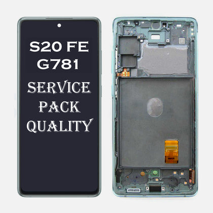 Replacement OLED with Frame for Samsung S20 FE (G781) - Mint
