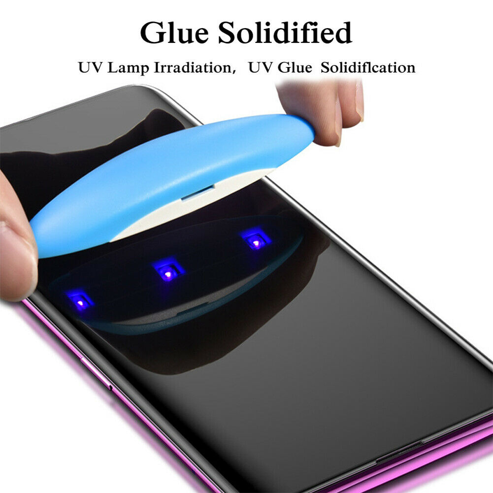 UV Curved 3D Tempered Glass for Samsung S8 with Light and liquid Glue