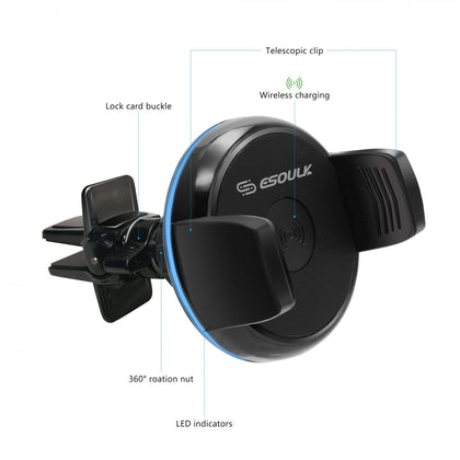 Esoulk Wireless Charger Car Air Vent Holder - Cell Phone Parts Canada