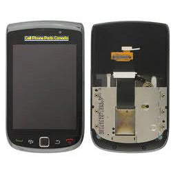 Blackberry 9800 LCD 001 Slider Complete Assembly Black