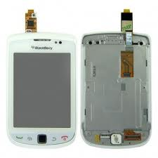 Blackberry 9810 LCD Slider Complete Assembly White