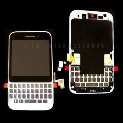 Blackberry Q5 LCD Digitizer Assembly White