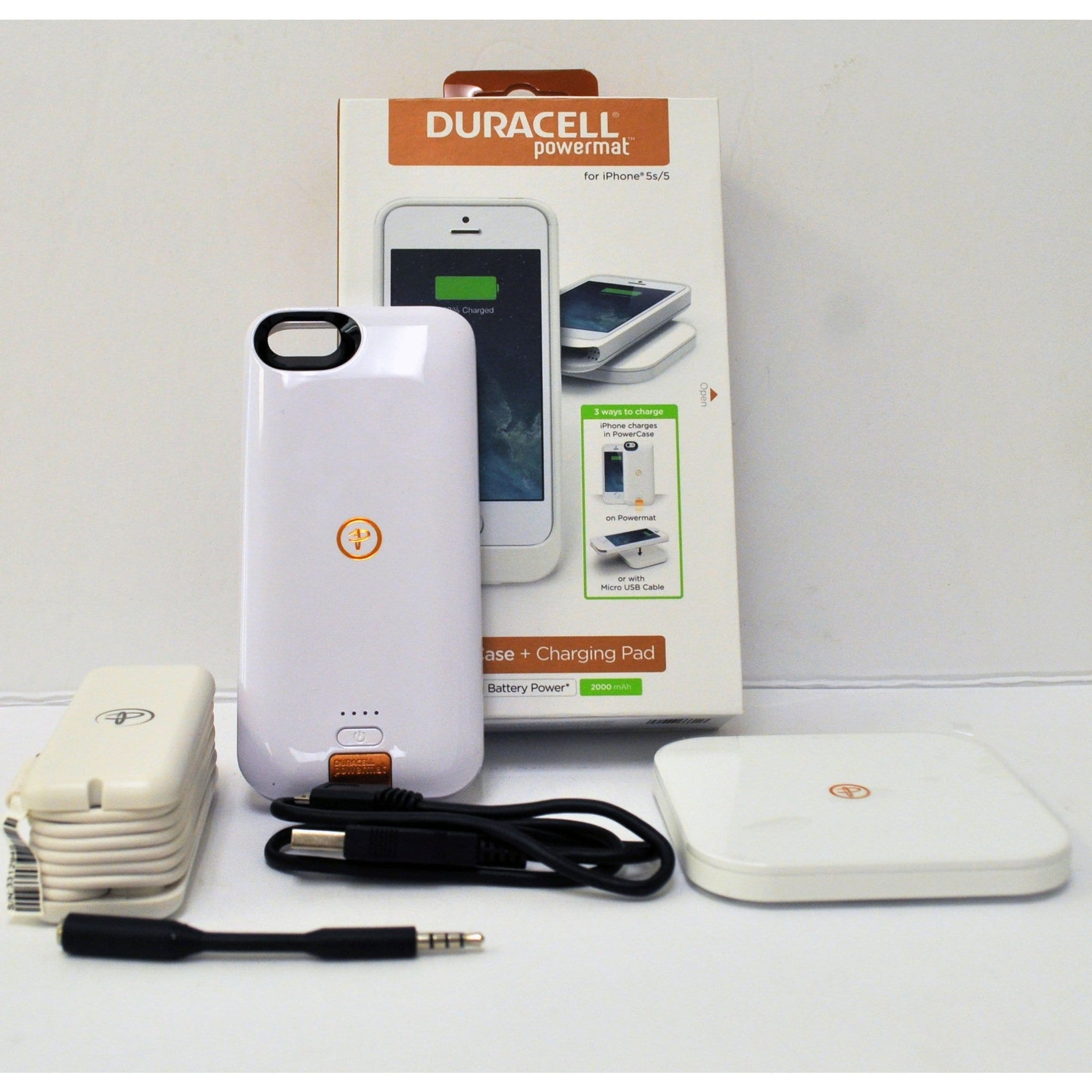 Duracell Power bank with wireless charger for iPhone