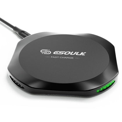 Esoulk Wireless Charger Black 10W EW01P-BK - Best Cell Phone Parts Distributor in Canada