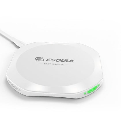 Esoulk Wireless Charger White 10W - Cell Phone Parts Canada