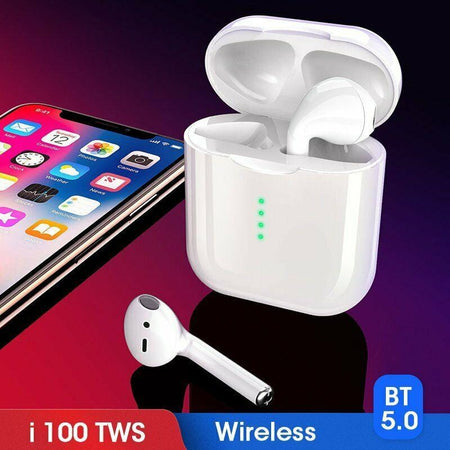 i100 TWS Bluetooth Earbuds with wireless Charging