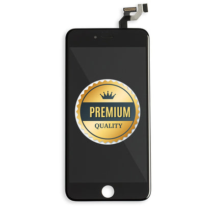 Replacement iPhone 6s Plus LCD Assembly Black with Back Metal Plate (Premium Quality) - Best Cell Phone Parts Distributor in Canada