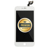 Replacement LCD Assembly Compatible for iPhone 6s Plus with Back Metal Plate (Premium Quality) - White
