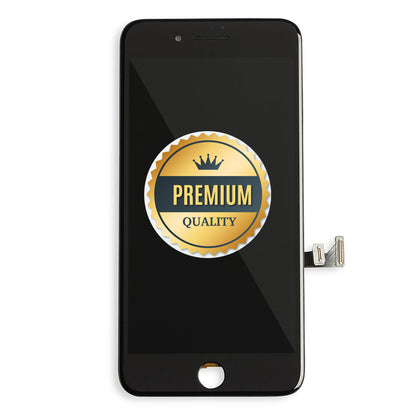 Replacement iPhone 7 LCD & Touch Screen Black with Back Metal Plate (Premium Quality) - Cell Phone Parts Canada