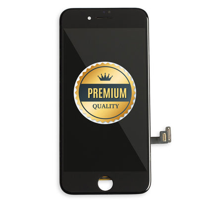 Replacement iPhone 8 LCD & Touch Screen Black with Back Metal Plate (Premium Quality) - Best Cell Phone Parts Distributor in Canada