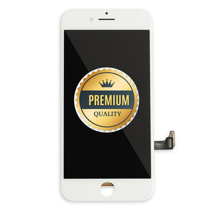 Replacement iPhone 8 LCD Assembly White with Back Metal Plate (Premium Quality) - Best Cell Phone Parts Distributor in Canada