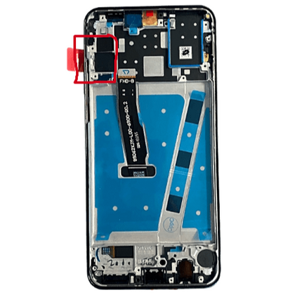 LCD & Digitizer Black with Frame for Huawei P30 Lite / Nova 4E