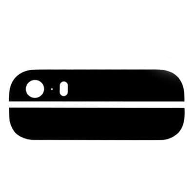 iPhone 5s Back Glass Cover Top & Bottom Black - Cell Phone Parts Canada
