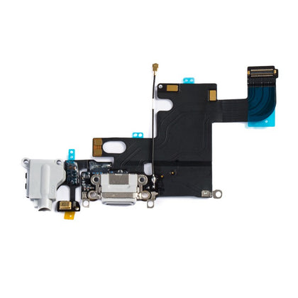 Replacement Charging Port Flex White (Light Gray) for iPhone 6 - Best Cell Phone Parts Distributor in Canada