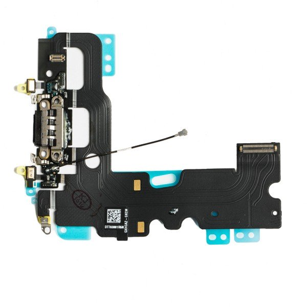 Replacement Charging Port Flex Cable Compatible With iPhone 7 Black
