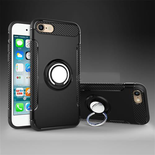 iPhone X TPU with Kick Stand 2 in 1 Built-in protective Case Black