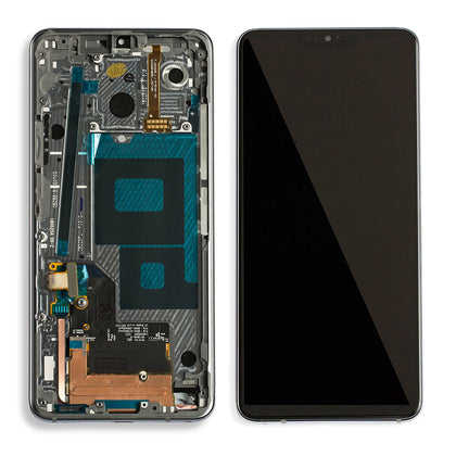 LG G7 ThinQ / G7 Plus LCD Assembly With Frame (Black) - Cell Phone Parts Canada