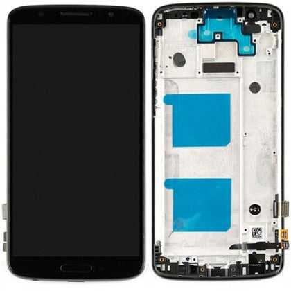 Motorola Moto G6 (XT1925) LCD & Digitizer Black with Frame - Cell Phone Parts Canada