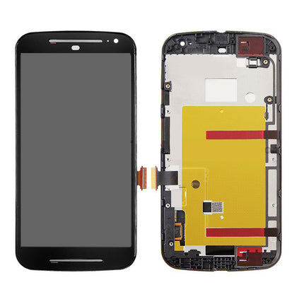 Motorola Moto G2 LCD Assembly with Frame Black - Cell Phone Parts Canada