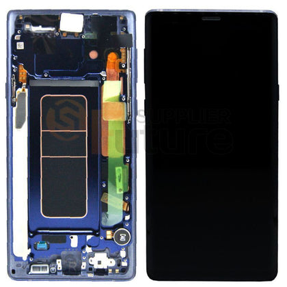 Samsung Note 9 LCD digitizer Blue with Frame AAA Quality