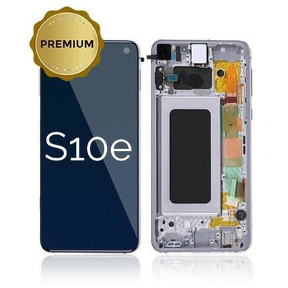 Samsung S10e LCD & Digitizer Prism Black (OEM) with Frame