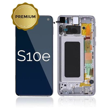 Samsung S10e LCD & Digitizer Prism Blue (OEM) with Frame