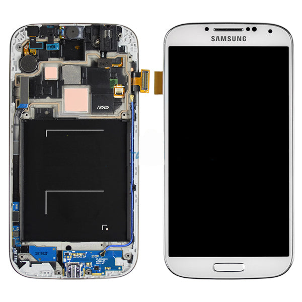 Samsung S4 LCD with Digitizer and Frame White