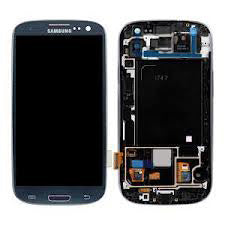 Samsung S3 i747 LCD with Digitizer and Frame  Blue - Best Cell Phone Parts Distributor in Canada