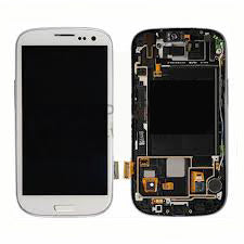 Samsung S3 i747 LCD with Digitizer and Frame  White - Cell Phone Parts Canada