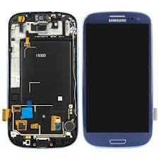 Samsung S3 i9300 LCD with Digitizer and Frame  Blue - Best Cell Phone Parts Distributor in Canada