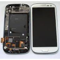 Samsung S3 i9300 LCD with Digitizer and Frame  White - Best Cell Phone Parts Distributor in Canada