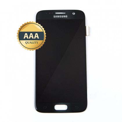 Replacement Samsung S7 LCD Assembly Black AAA Quality with Frame - Best Cell Phone Parts Distributor in Canada