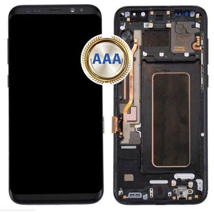 Replacement LCD Assembly for Samsung S8 Black with Frame AAA Quality - Best Cell Phone Parts Distributor in Canada