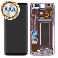 Replacement LCD & Digitizer for Samsung S9 with Frame Purple (AAA Quality) - Cell Phone Parts Canada
