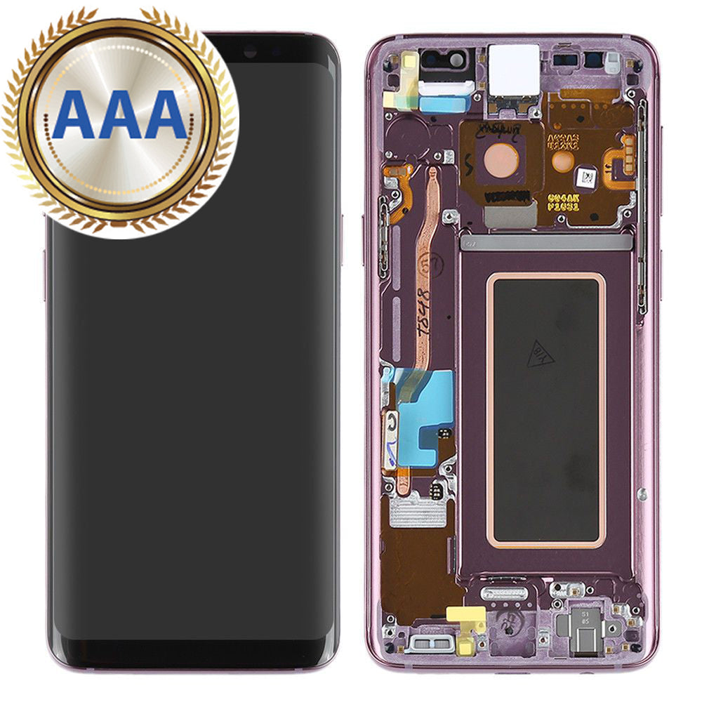 Replacement LCD & Digitizer for Samsung S9 with Frame Purple (AAA Quality)