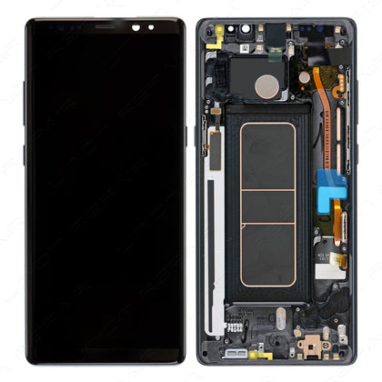 Samsung Note 8 LCD & Digitizer with Frame Black - Cell Phone Parts Canada