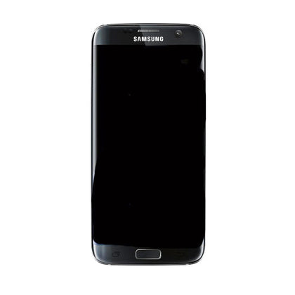 Samsung S7 Edge LCD Assembly Black with frame - Cell Phone Parts Canada