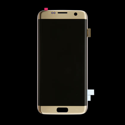 Replacement Samsung S7 Edge LCD Assembly Gold - Best Cell Phone Parts Distributor in Canada