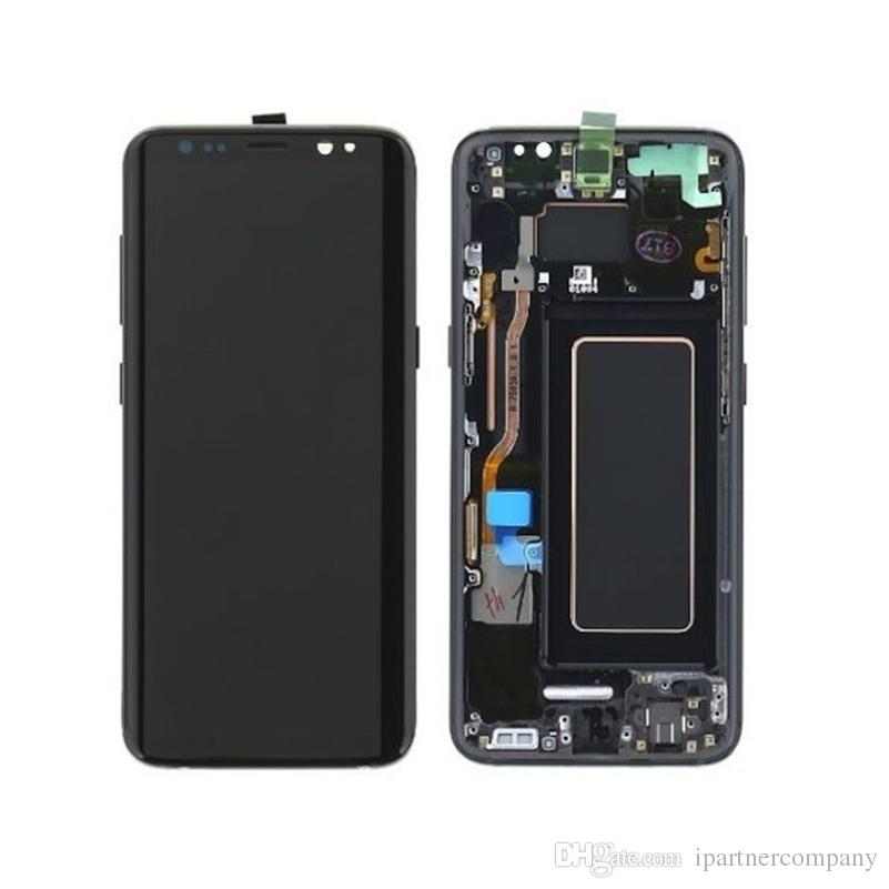 Replacement LCD & Digitizer for Samsung S8 Plus Black with Frame