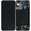 Samsung A20 LCD & Digitizer Black (A205W) with Frame