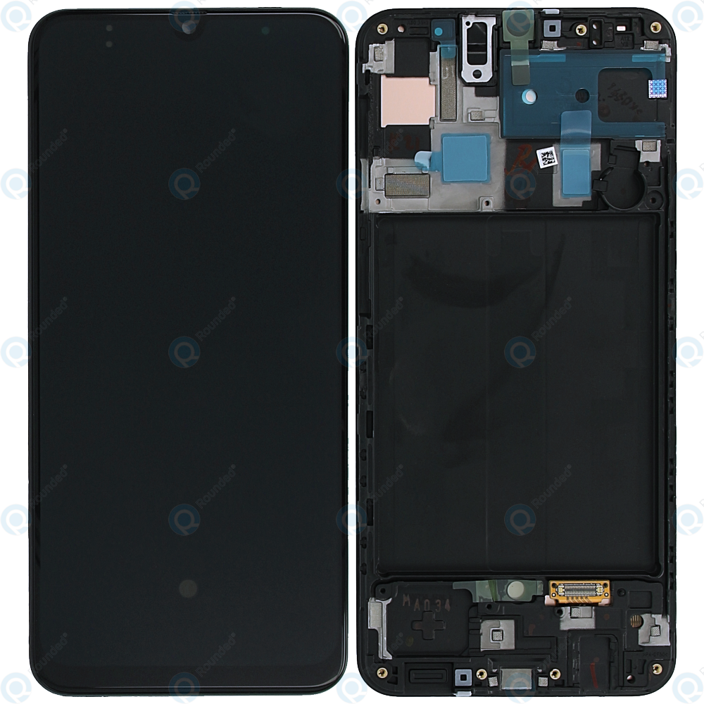 Samsung A50 LCD & Digitizer Black (A505W) with Frame Black