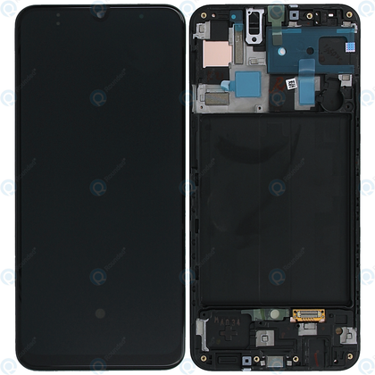 Samsung A50 LCD & Digitizer Black (A505W) with Frame