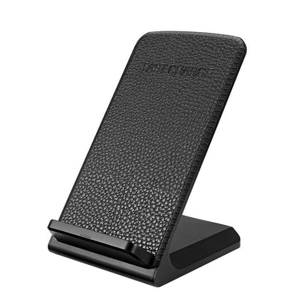 Wireless Charger Leather Desktop Black, 10W - Best Cell Phone Parts Distributor in Canada