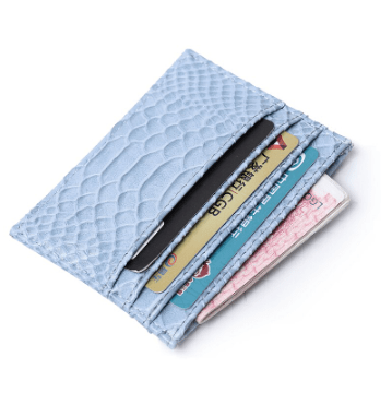 Blue Croc Card Holder